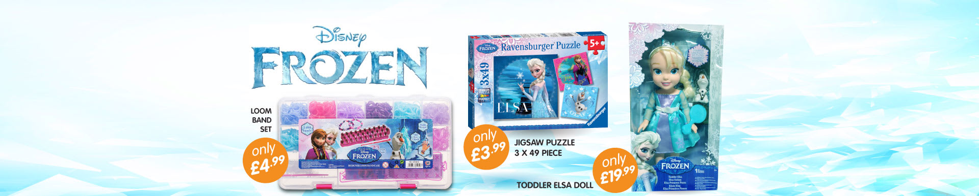 Great range of Disney Frozen toys available from B&M Stores.