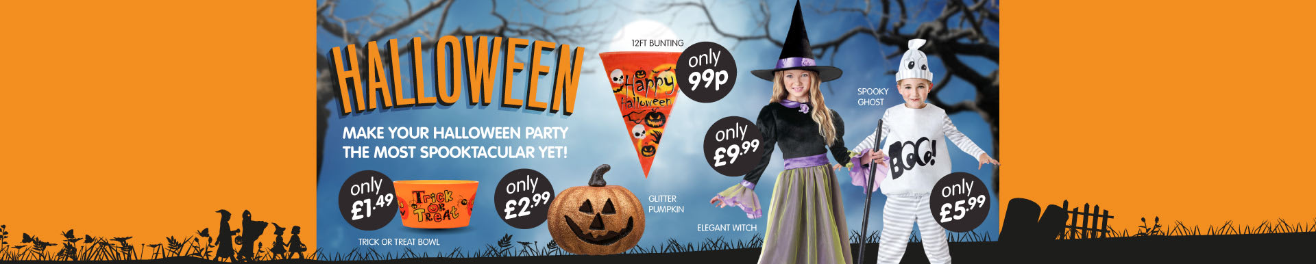 Browse B&M's spooky range of Halloween costumes and decorations.
