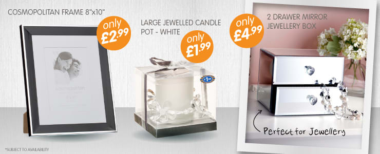 Everything you need from Mirrors, Candles and Accessories to brighten up your home from B&M Stores.