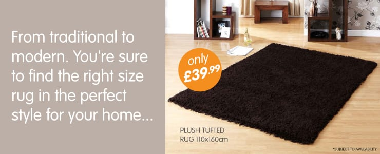 From traditional to modern. You're sure to find the right size rug in the perfect style for your home at B&M Stores.