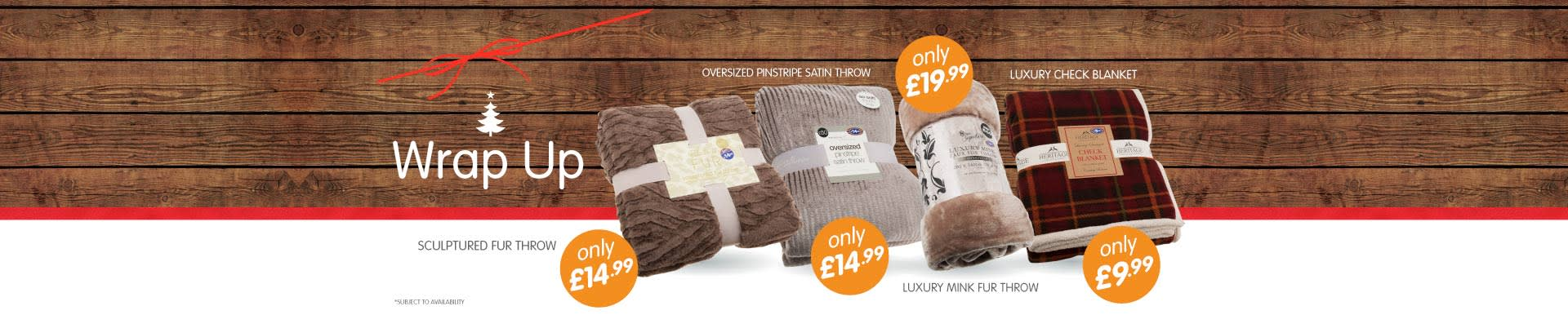 Wrap up a great gift this Christmas with our throw collection from B&M Stores.