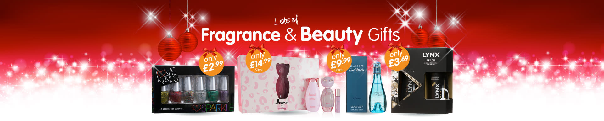 Lots of Fragrance & Beauty Gifts available from B&M Stores.