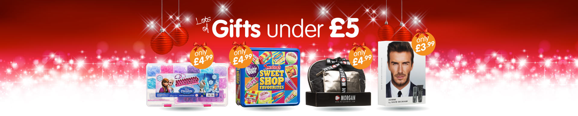 Lots of Christmas Gifts under £5 at B&M Stores.