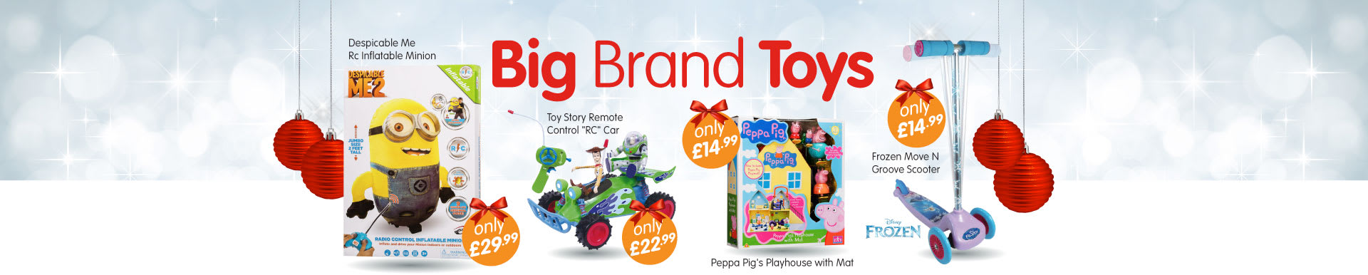 Great selection of branded toys for Christmas at B&M Stores.
