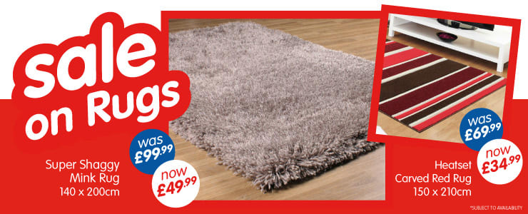 Sale on Rugs at B&M. Super Shaggy Mink Rug Was £99.99 Now £49.99