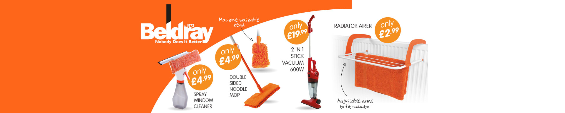 Don't miss our big savings on Beldray at B&M Stores.