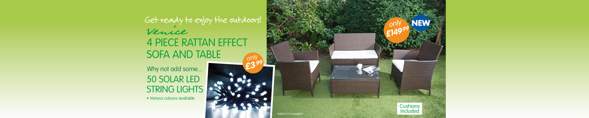 B&M Stores have a large range of garden furniture and garden solar lights at low prices.