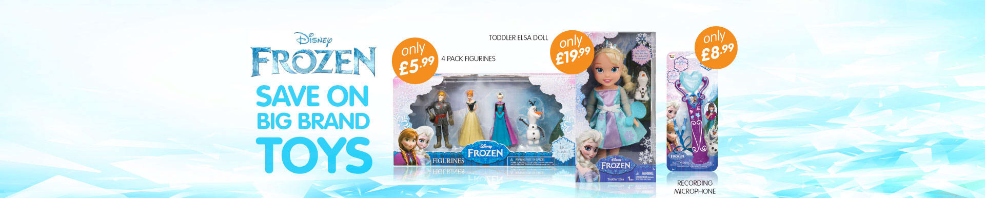 Big savings on Frozen Toys at B&M Stores.