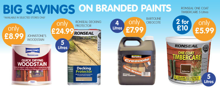 Big Savings on outdoor paints at B&M Stores.