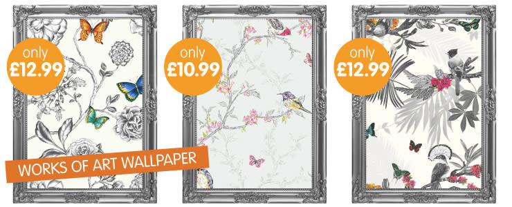 Save on new stylish wallpaper now available at B&M.