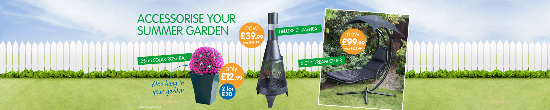 Accessorise your garden this summer and save at B&M.