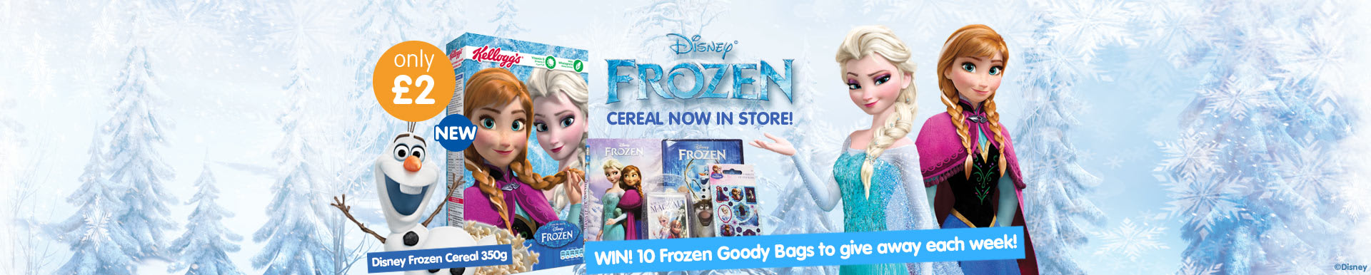 Win! 10 Frozen Goody Bags to give away each week at B&M!