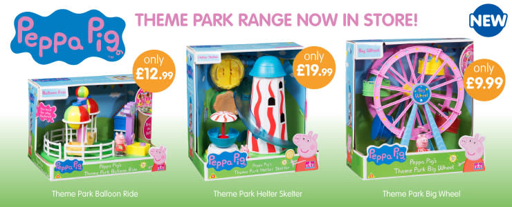 Save on the new Peppa Pig Theme Park range at B&M.