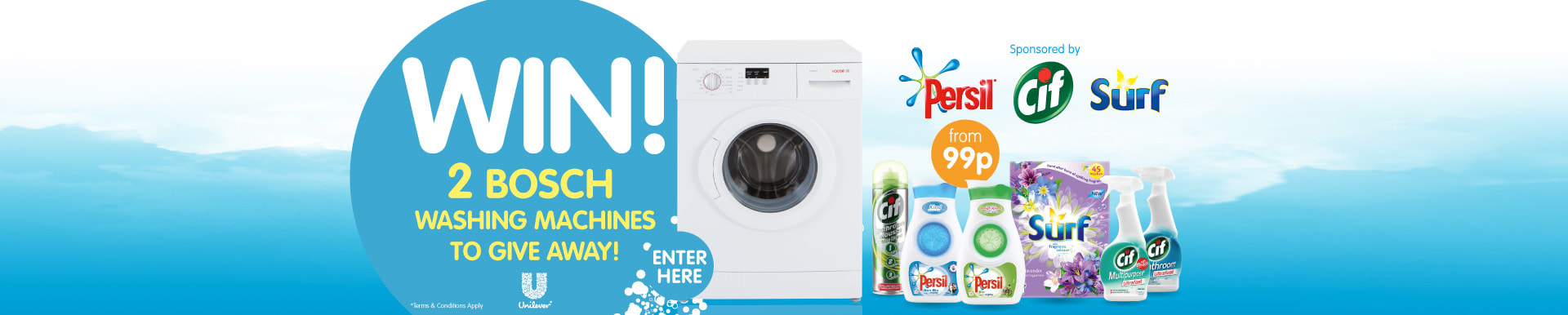 WIN! 2 Bosch washing machines to giveaway. Sponsored by Persil, Cif and Surf.