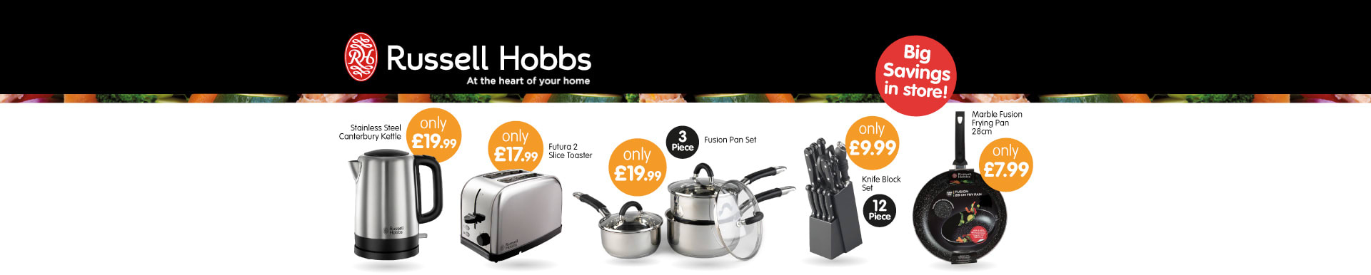 Save on Russell Hobbs at B&M.