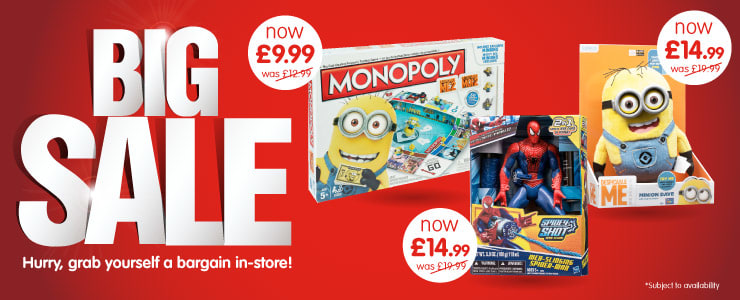 Hurry, grab yourself a bargain in the Toys Big Sale at B&M.