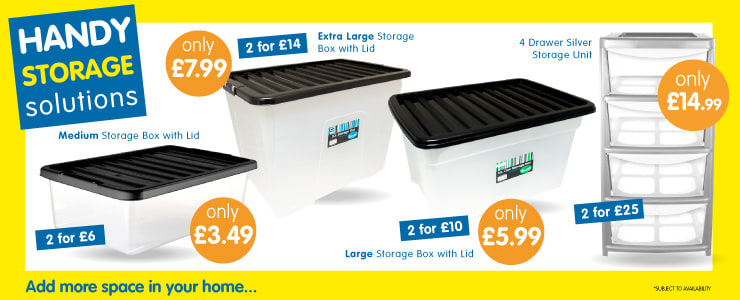 Save on Storage solutions at B&M.