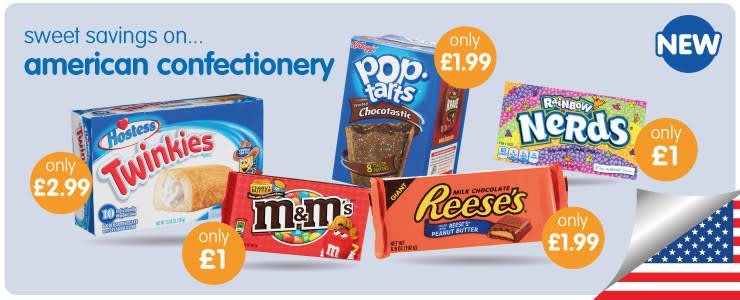 Save on American Confectionery at B&M.