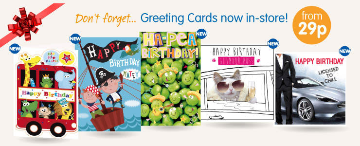 Save on Birthday Cards at B&M.