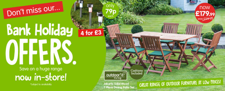 Big Bank Holiday Offers now instore at B&M.