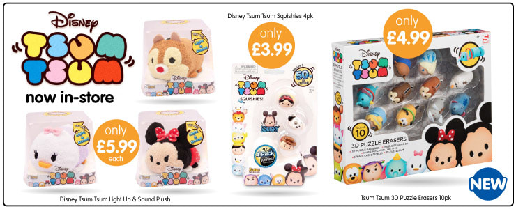 Save on Disney Tsum Tsum Toys at B&M.