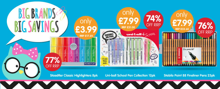 Big savings on Back to School at B&M.