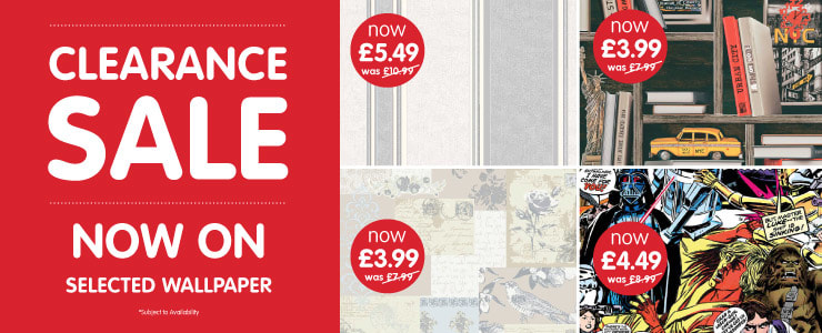 Clearance Wallpaper Sale at B&M.