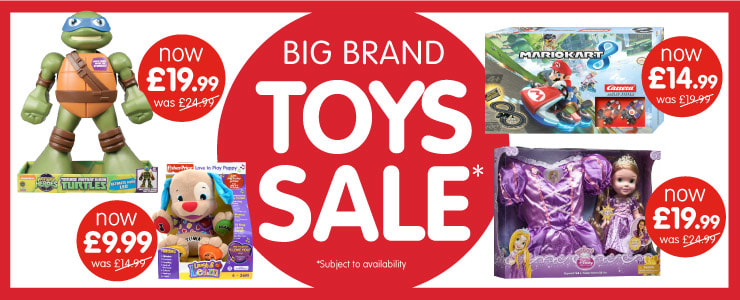 Big Brand Toys Sale at B&M.
