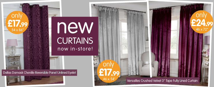 Curtains Ideas curtains for cheap : Cheap Curtains, Curtain Poles and Curtain Ties at B&M
