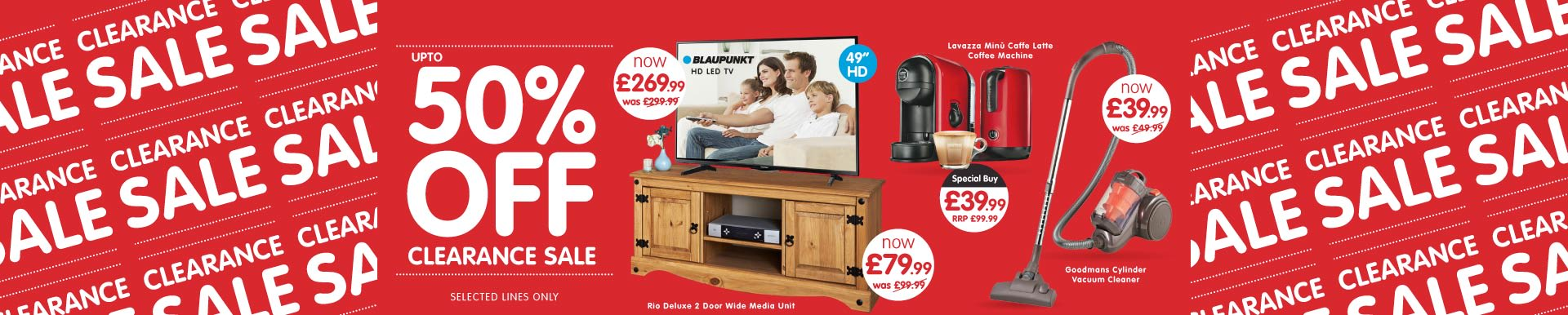 Clearance Sale now on at B&M.