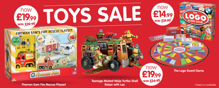 Toys Sale now on at B&M.