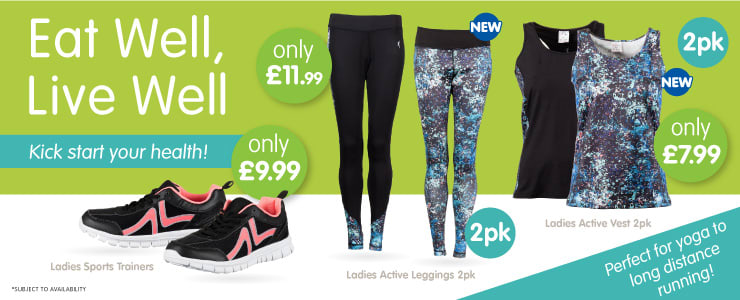 Save on fitness clothing at B&M.