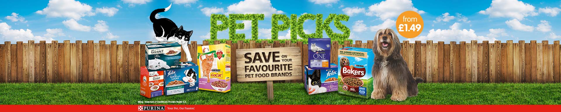 Save on Purina Pet Food at B&M.