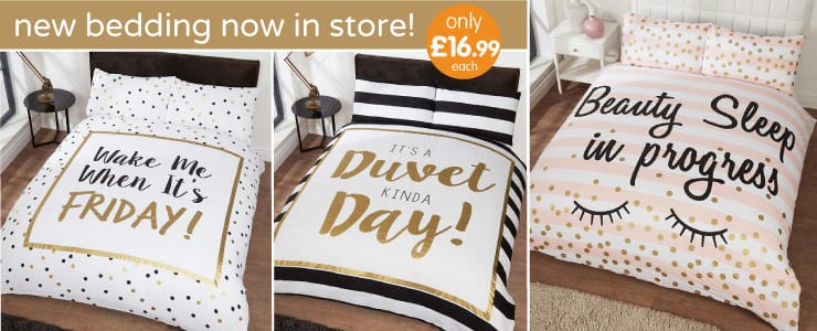 Save on new spring collection of Duvets at B&M.
