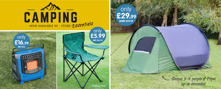 Save on Camping Essentials at B&M.