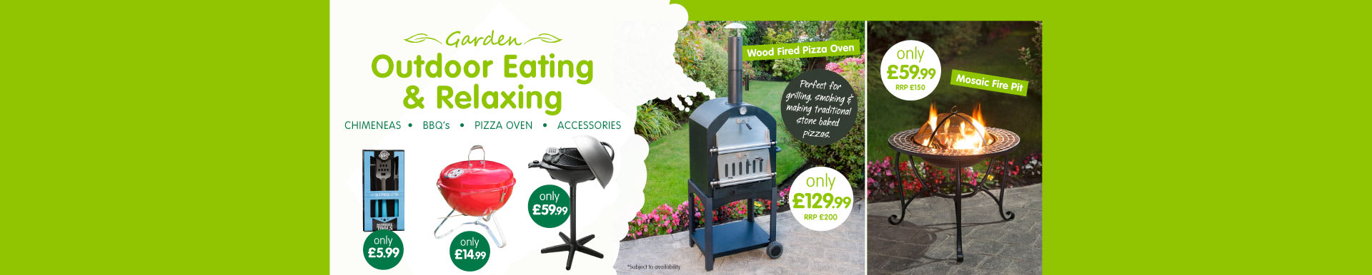 Save on Chimeneas & BBQs at B&M.