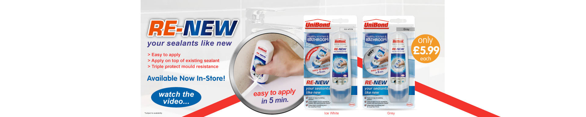 Save on Unibond Re-new sealant from B&M.