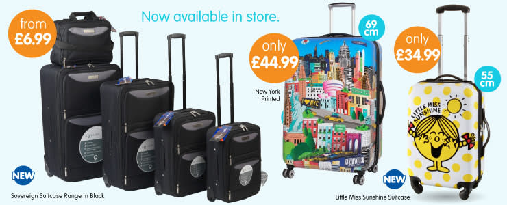 Suitcases, Bags, Carry Ons, Cabin Bags - Cheap Luggage at B&M