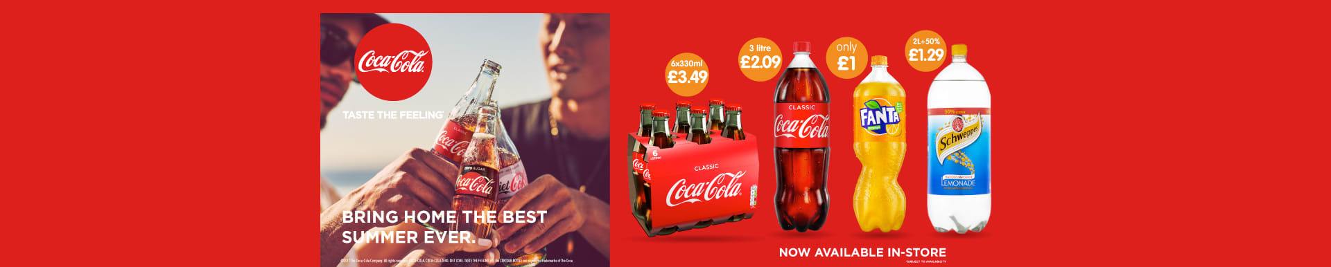 Save on Coca Cola at B&M.