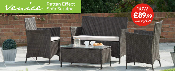 Save on Rattan Garden Furniture at B&M.