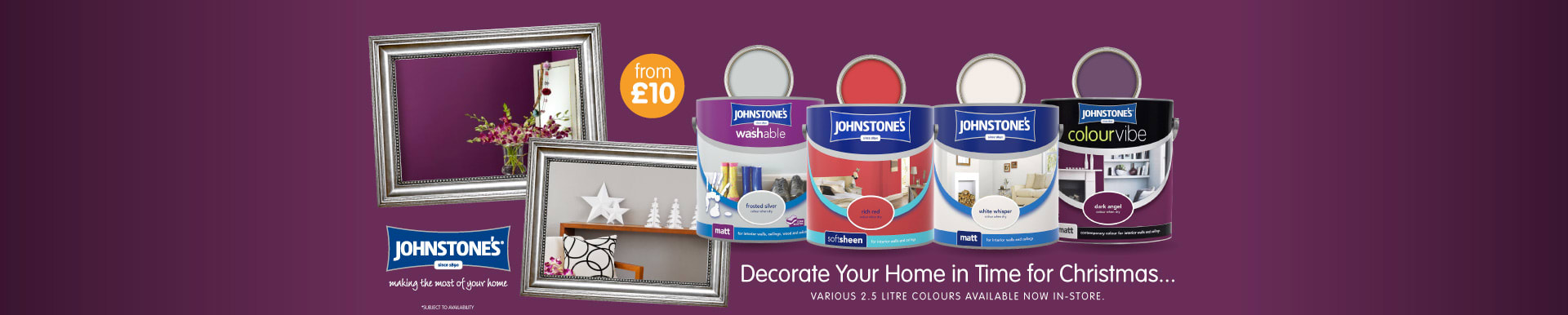 Save on Johnstone's Paint at B&M.