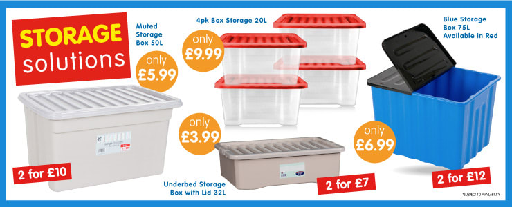 Save on Storage at B&M.