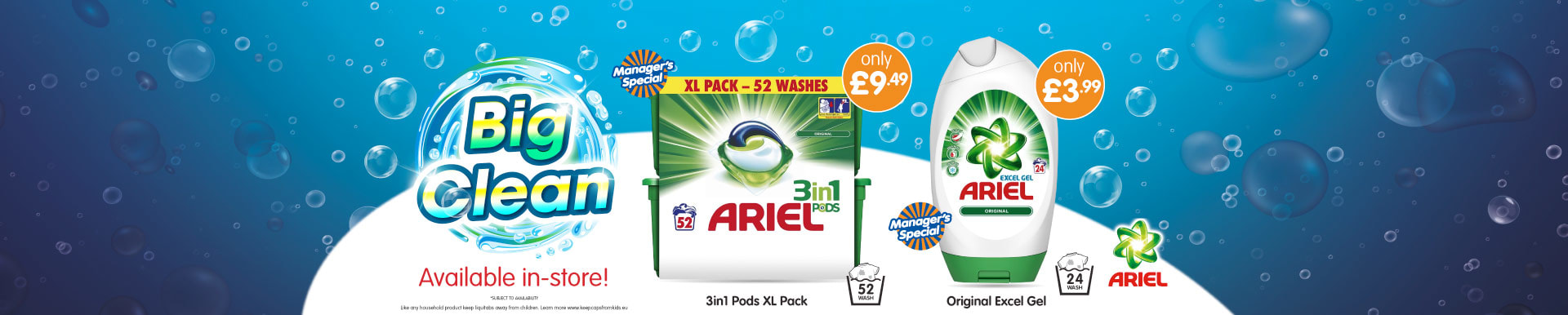 Save on Ariel at B&M.