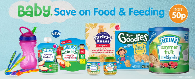 Save on baby food at B&M.