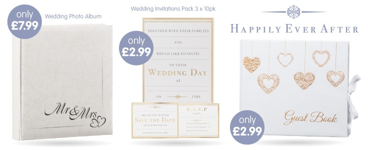 Save on Wedding Stationery at B&M.