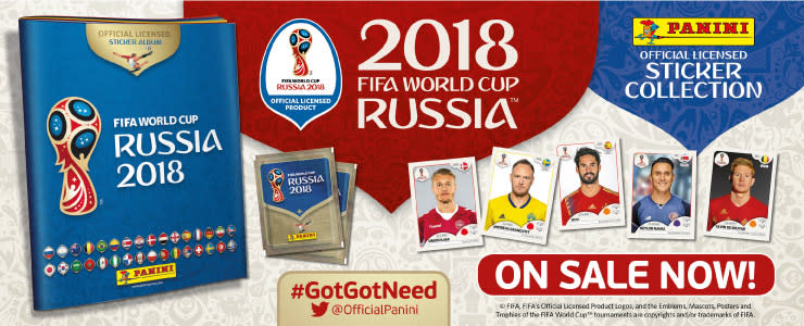 Panini World Cup Stickers now in-store at B&M.