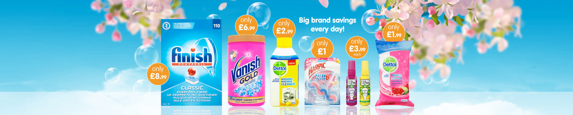 Save on big cleaning brands at B&M.