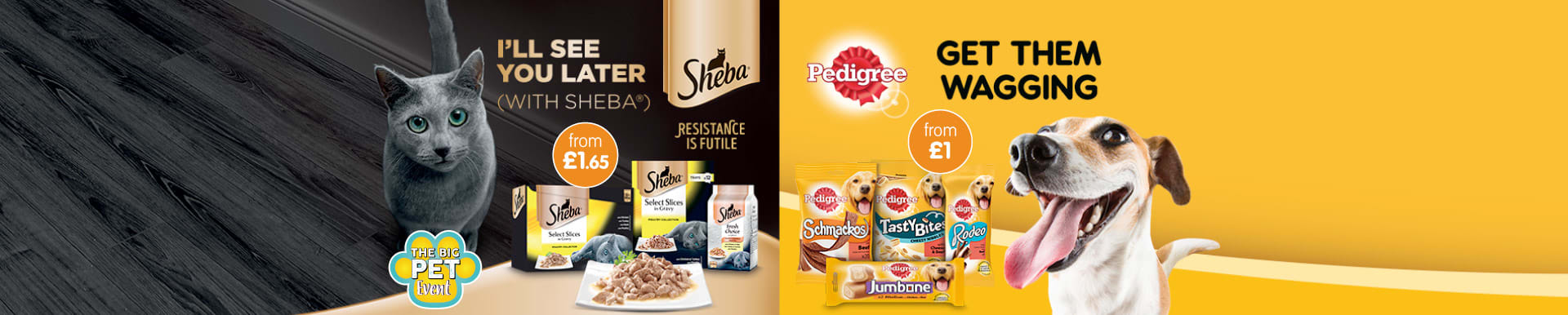 Save on Pedigree and Sheba at B&M.