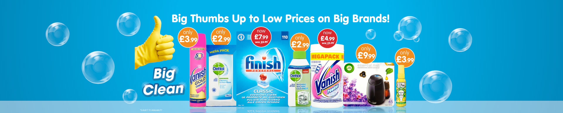 Save on Fairy, Dettol and Vanish at B&M.