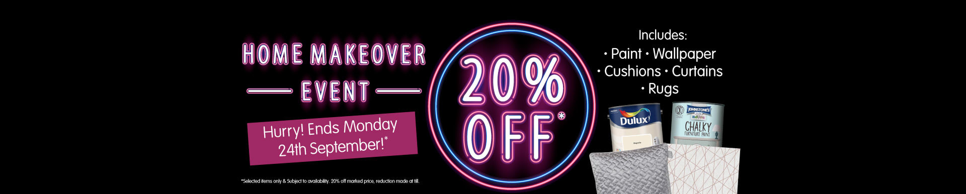 20% off Home Event at B&M.